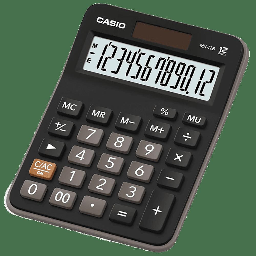 Calculadora 12 dígitos MX-12B Preto Casio