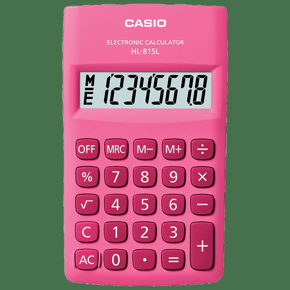 Calculadora 8 dígitos HL-815L Pink Casio