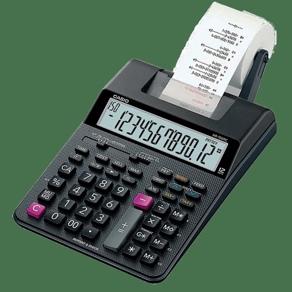 Calculadora de mesa com bobina 12 dígitos HR-100RC Casio
