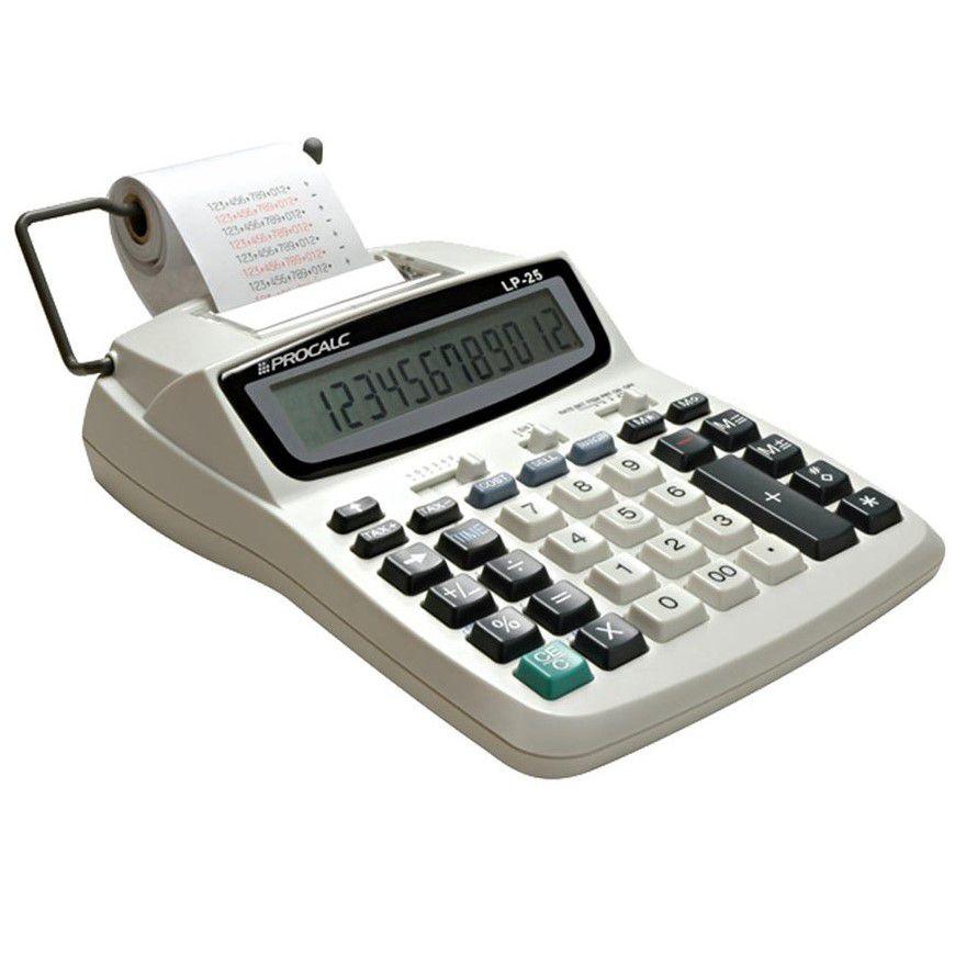 Calculadora de mesa com bobina 12 dígitos LP25 Procalc