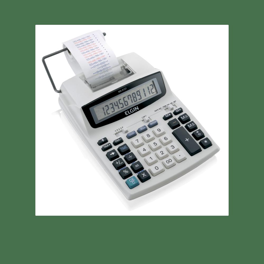 Calculadora de mesa com bobina 12 dígitos MA5121 Elgin