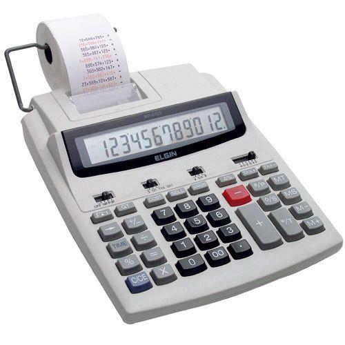 Calculadora de mesa com bobina 12 dígitos MR 6125 Elgin