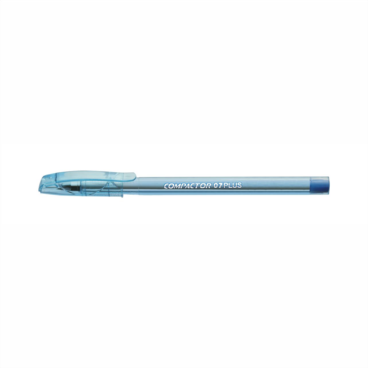 Caneta esferográfica 0.7 azul PLUS Compactor