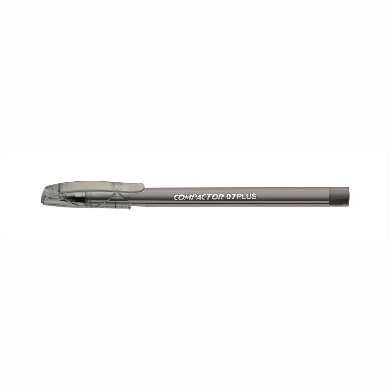 Caneta esferográfica 0.7 preto PLUS Compactor