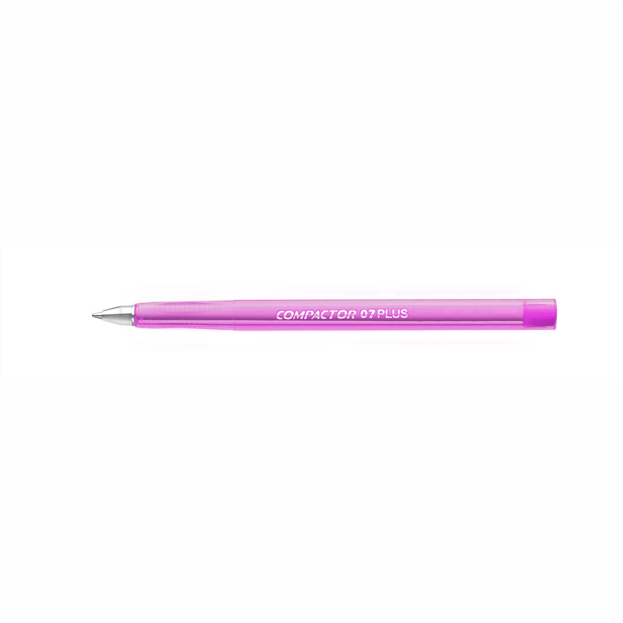 Caneta esferográfica 0.7 rosa PLUS Compactor