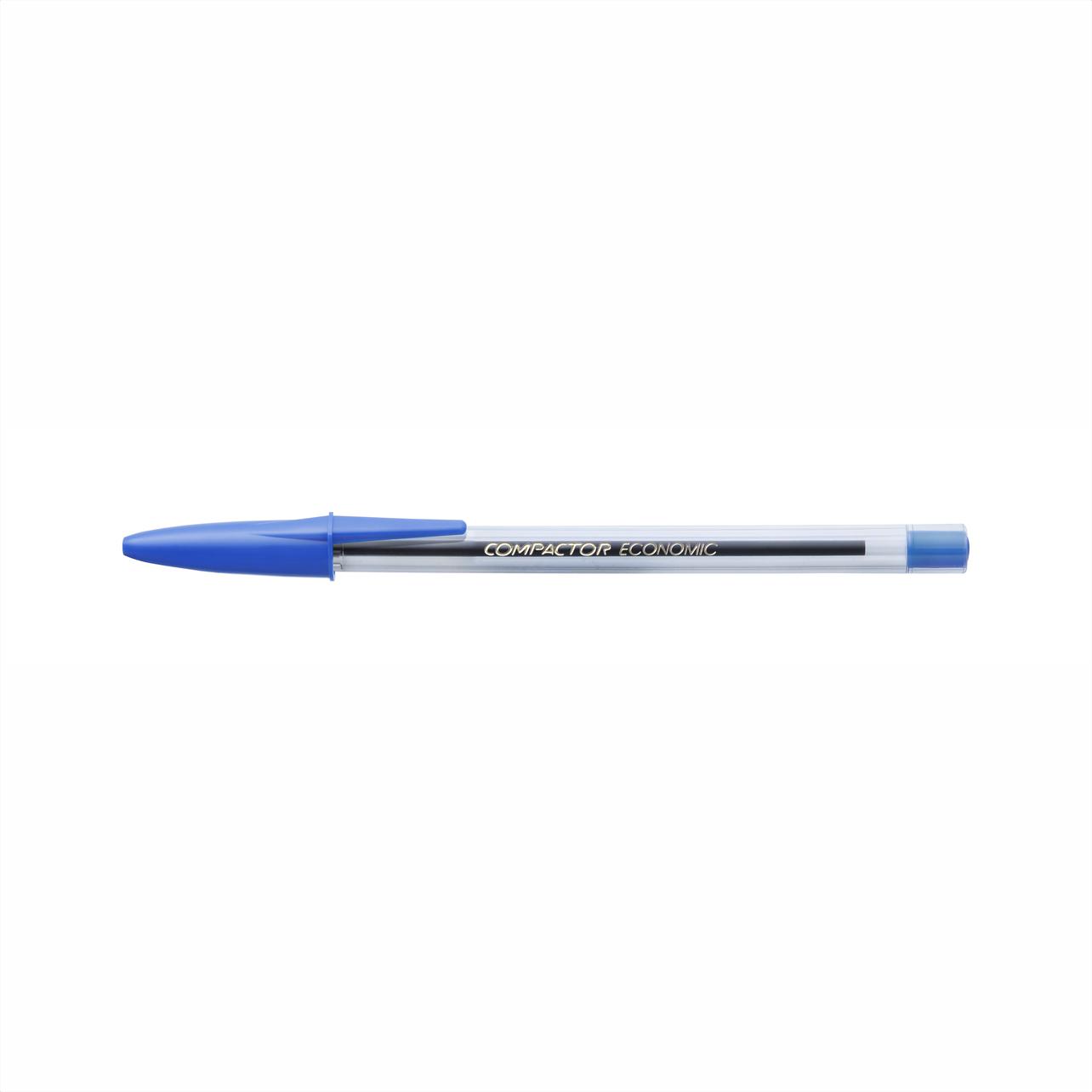 Caneta esferográfica 1.0 azul ECONOMIC Compactor