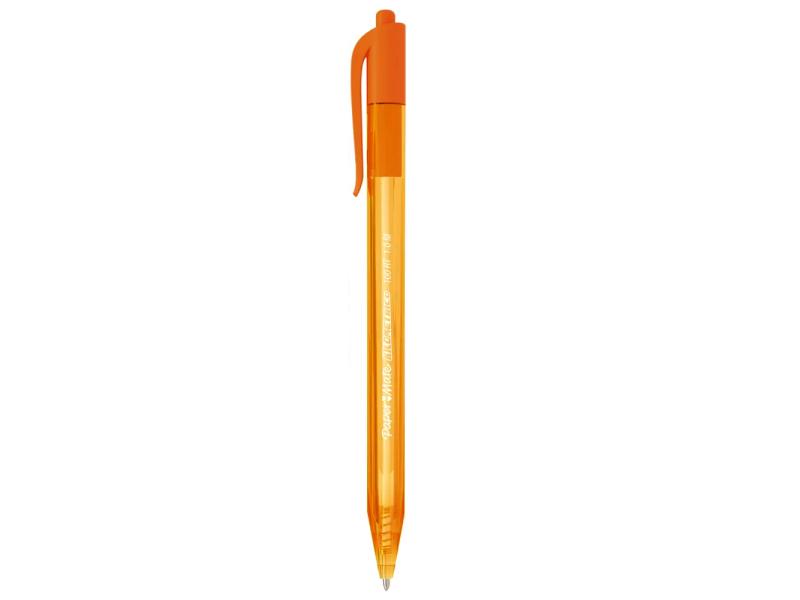 Caneta esferográfica 1.0 laranja 100 RT Paper Mate