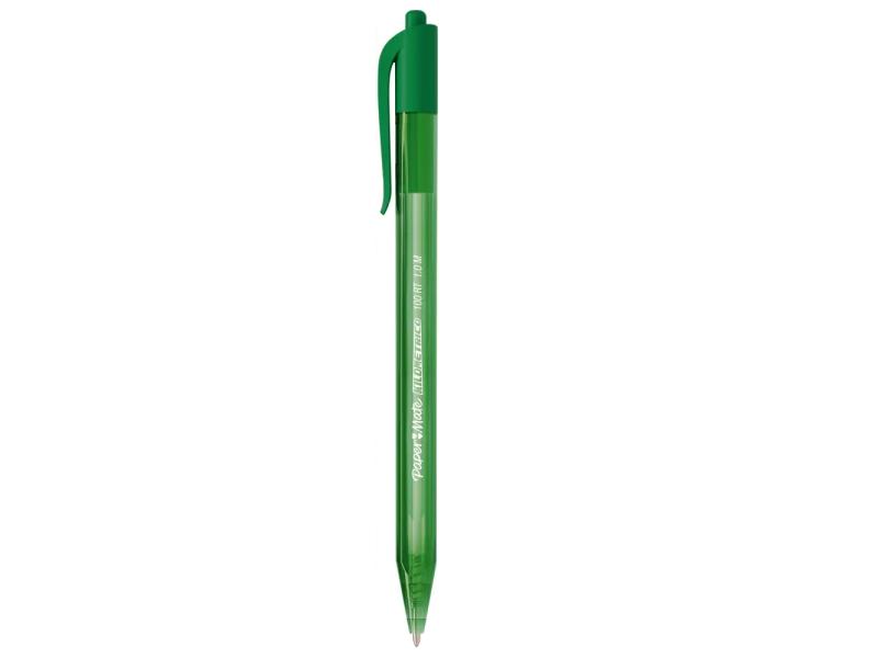 Caneta esferográfica 1.0 verde 100 RT Paper Mate