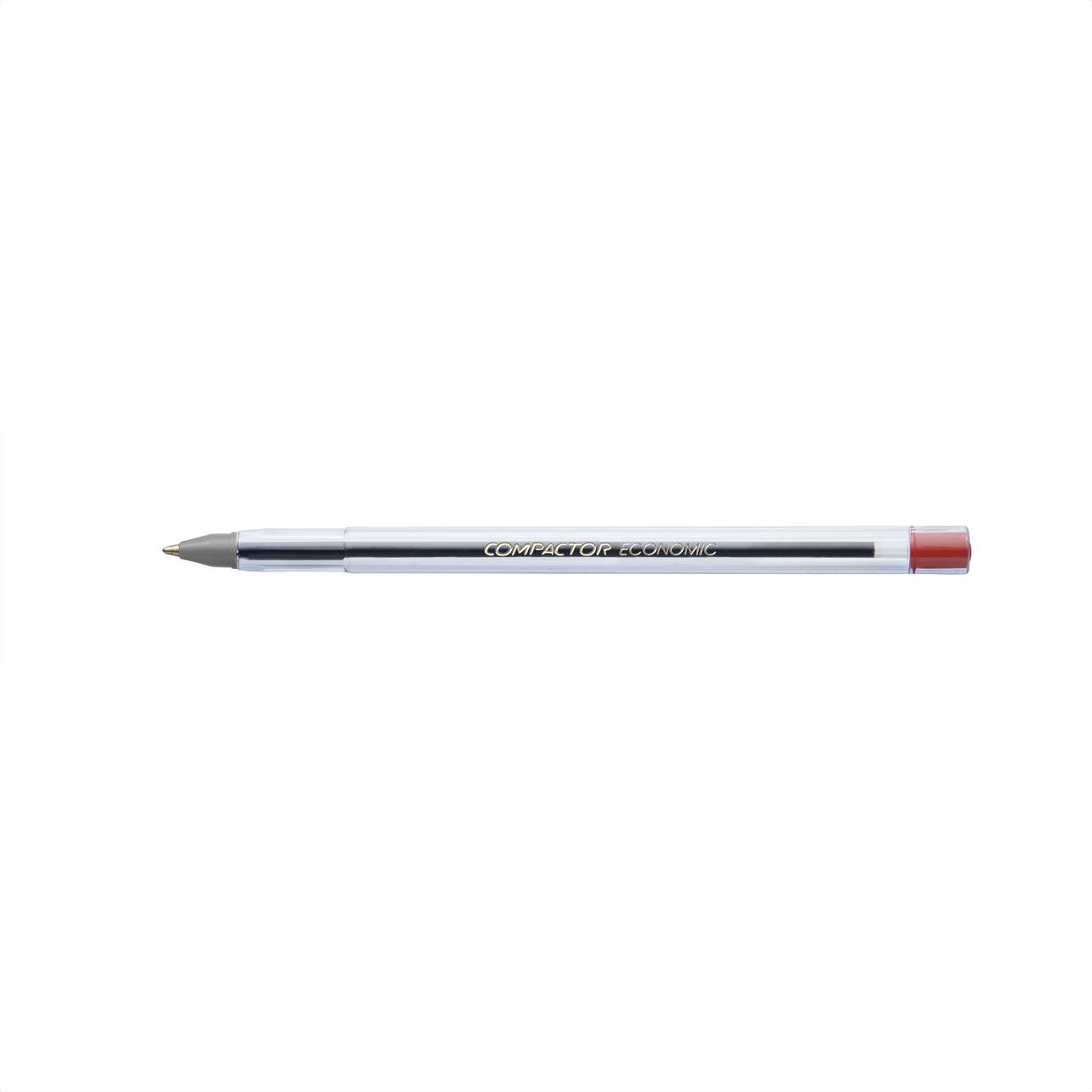 Caneta esferográfica 1.0 vermelho ECONOMIC Compactor