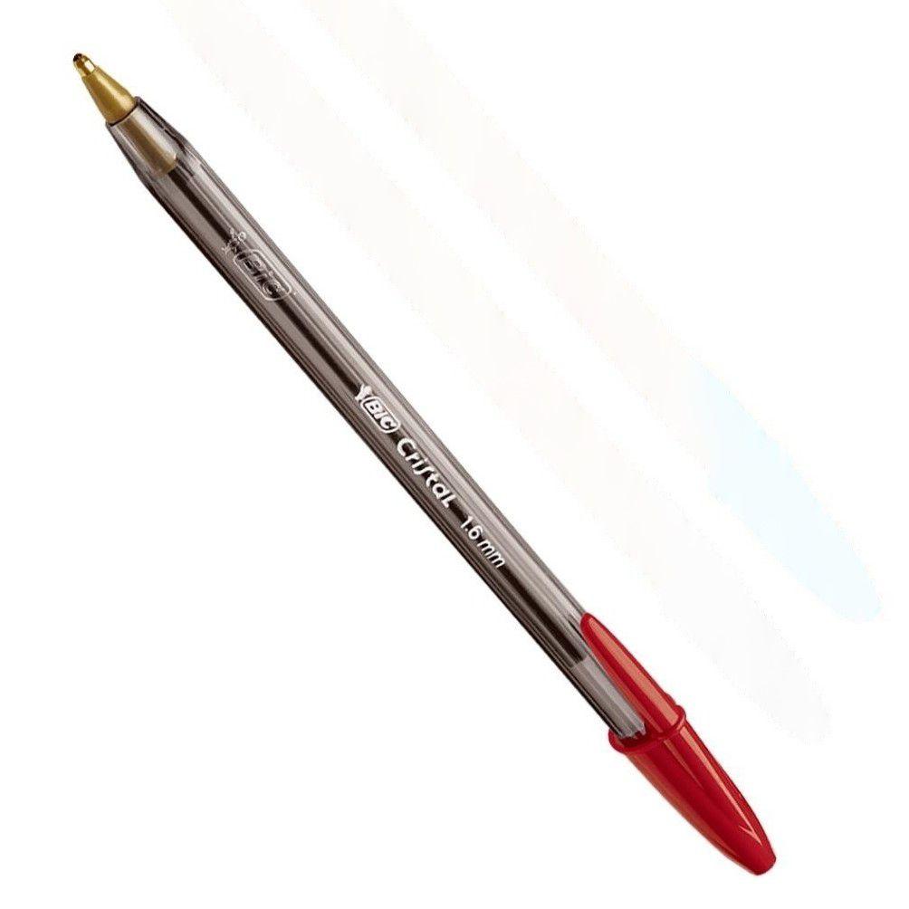 Caneta esferográfica 1.6 vermelho cristal bold Bic