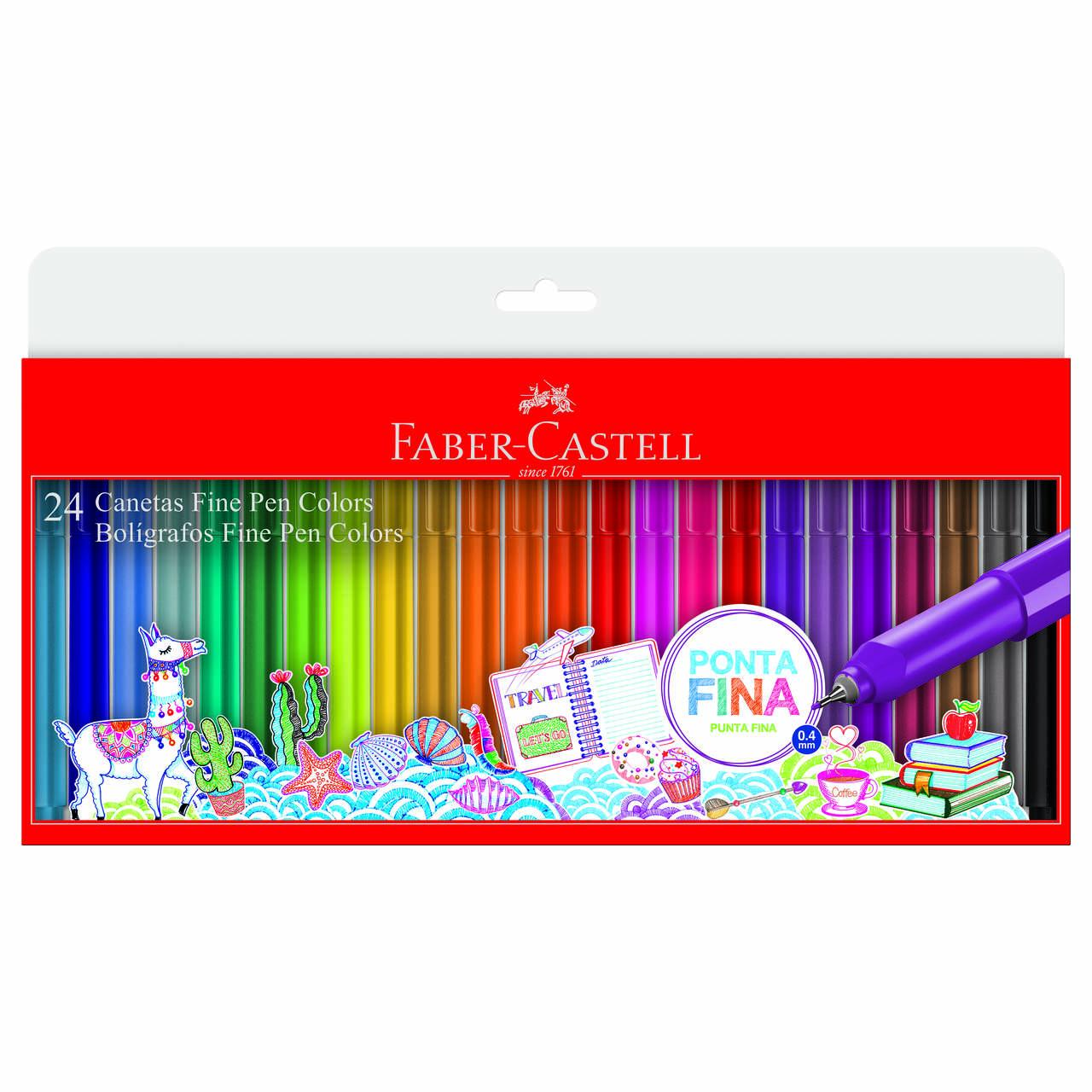 Caneta Hidrográfica 0.4 24 cores FINE PEN Faber-Castell