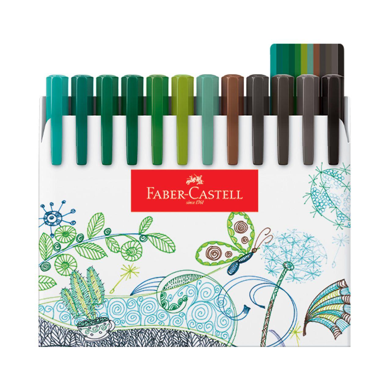 Caneta Hidrográfica 0.4 48 cores FINE PEN Faber-Castell