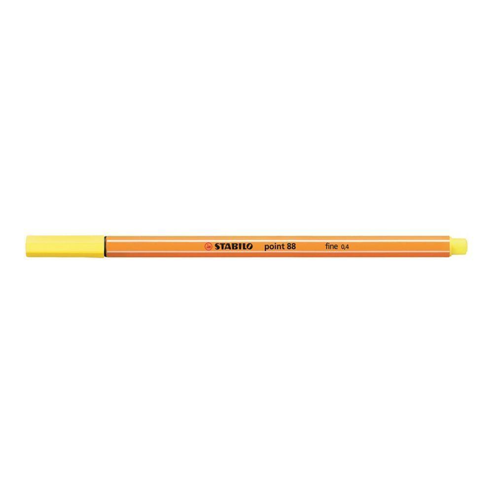 Caneta Hidrográfica 0.4 amarelo limão POINT 88 Stabilo