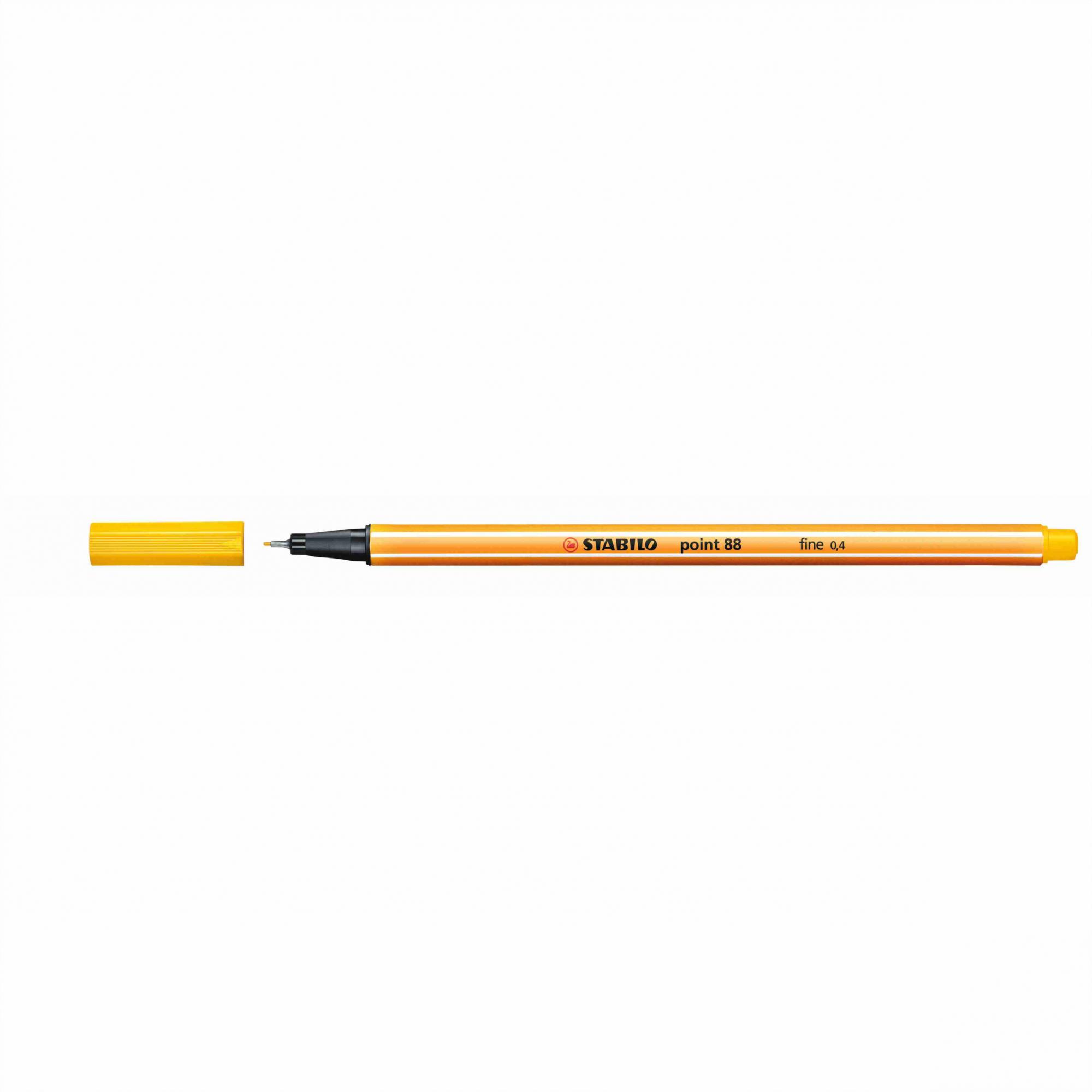 Caneta Hidrográfica 0.4 amarelo POINT 88 Stabilo