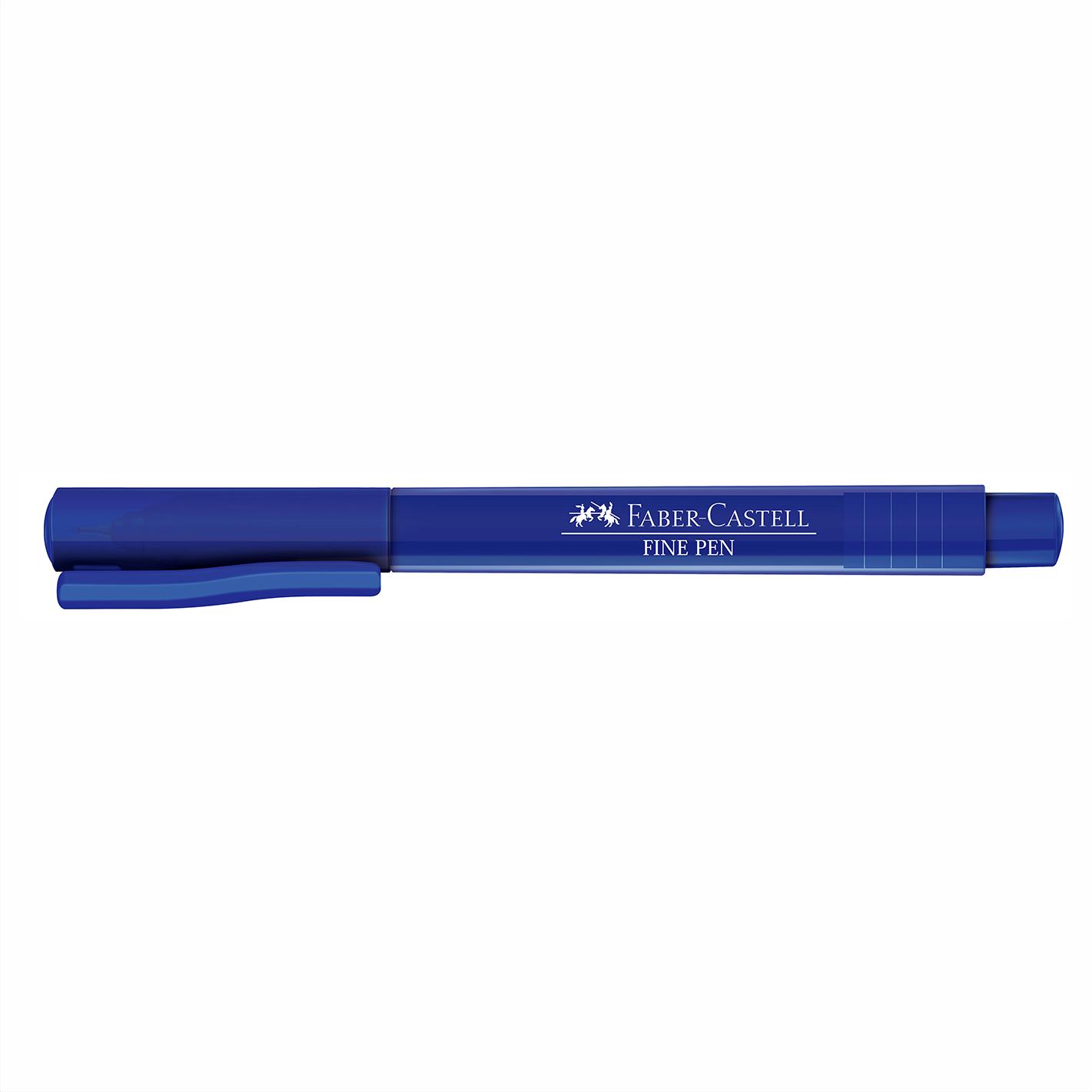 Caneta Hidrográfica 0.4 azul escuro FINE PEN Faber-Castell