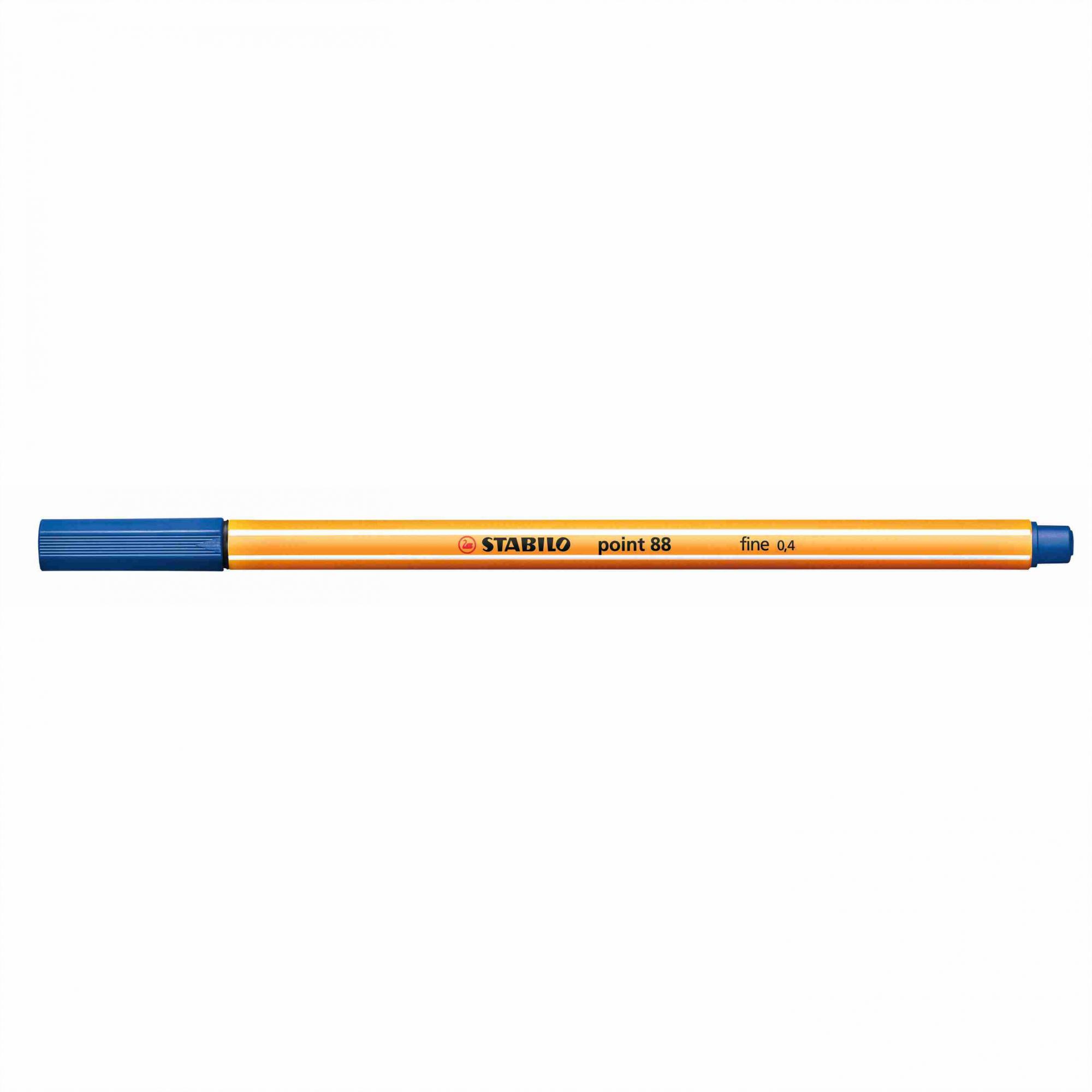 Caneta Hidrográfica 0.4 azul escuro POINT 88 Stabilo