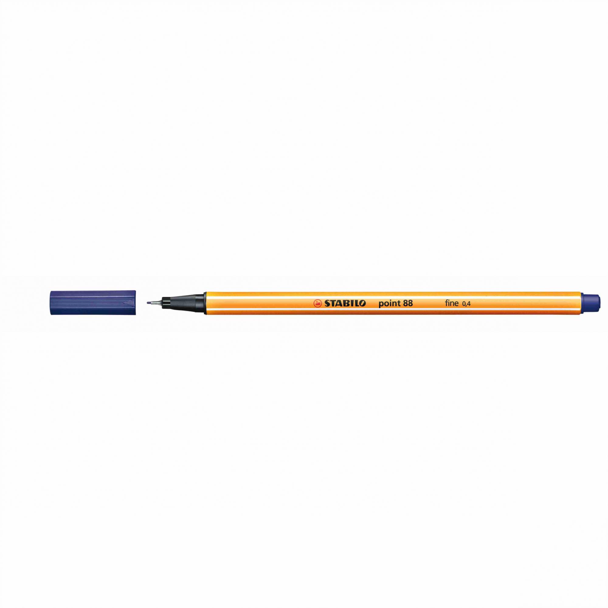 Caneta Hidrográfica 0.4 azul marinho POINT 88 Stabilo