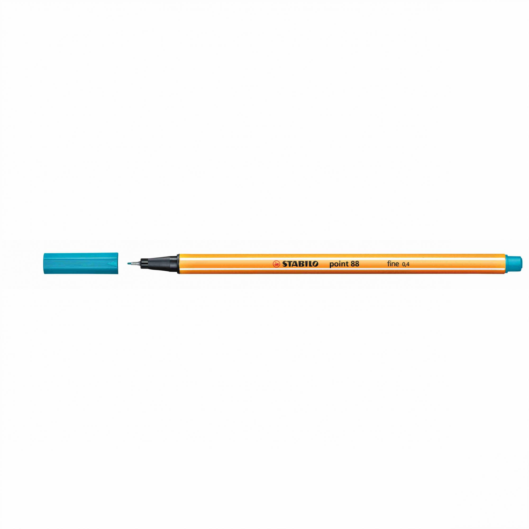Caneta Hidrográfica 0.4 azul turquesa POINT 88 Stabilo
