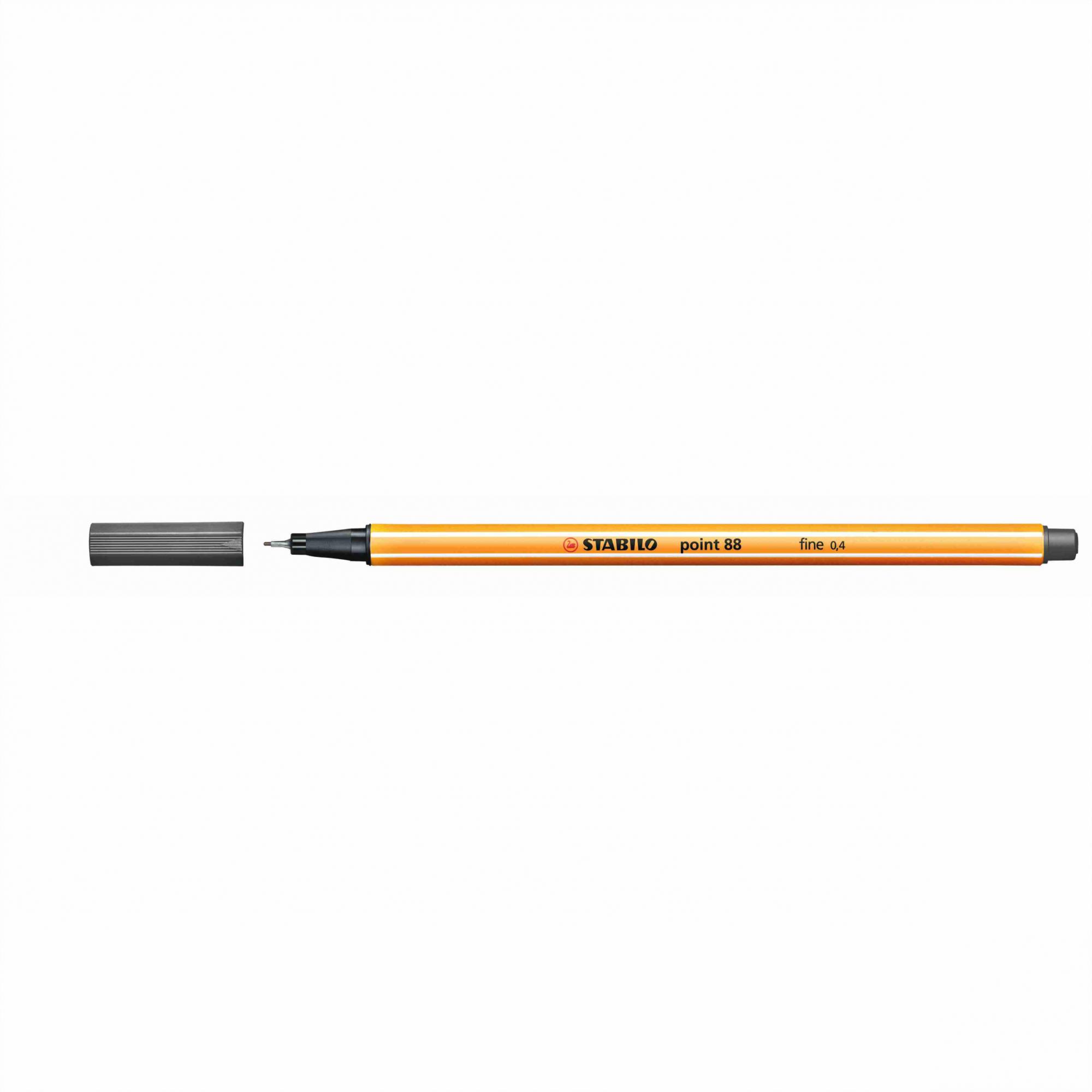 Caneta Hidrográfica 0.4 cinza escuro POINT 88 Stabilo