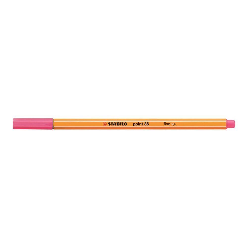 Caneta Hidrográfica 0.4 rosa chiclete POINT 88 Stabilo