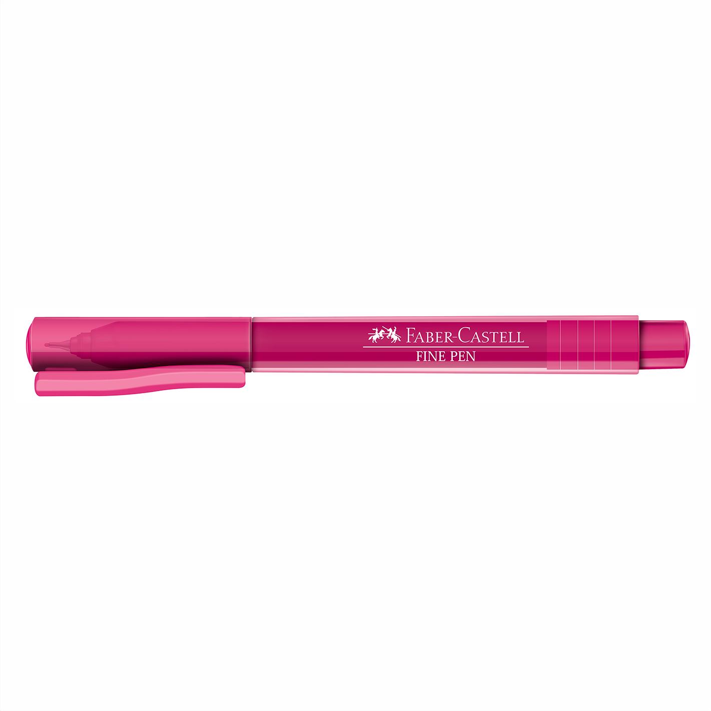 Caneta Hidrográfica 0.4 rosa FINE PEN Faber-Castell