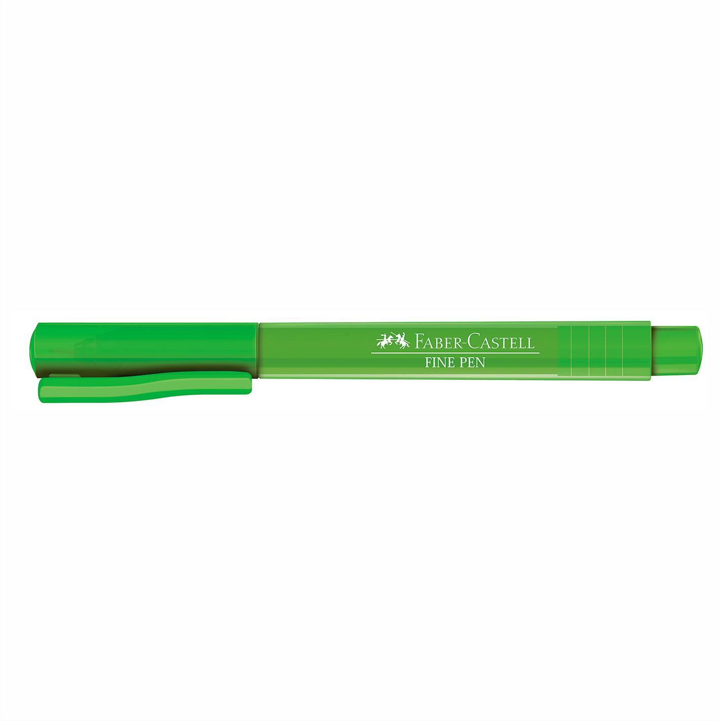 Caneta Hidrográfica 0.4 verde folha FINE PEN Faber-Castell