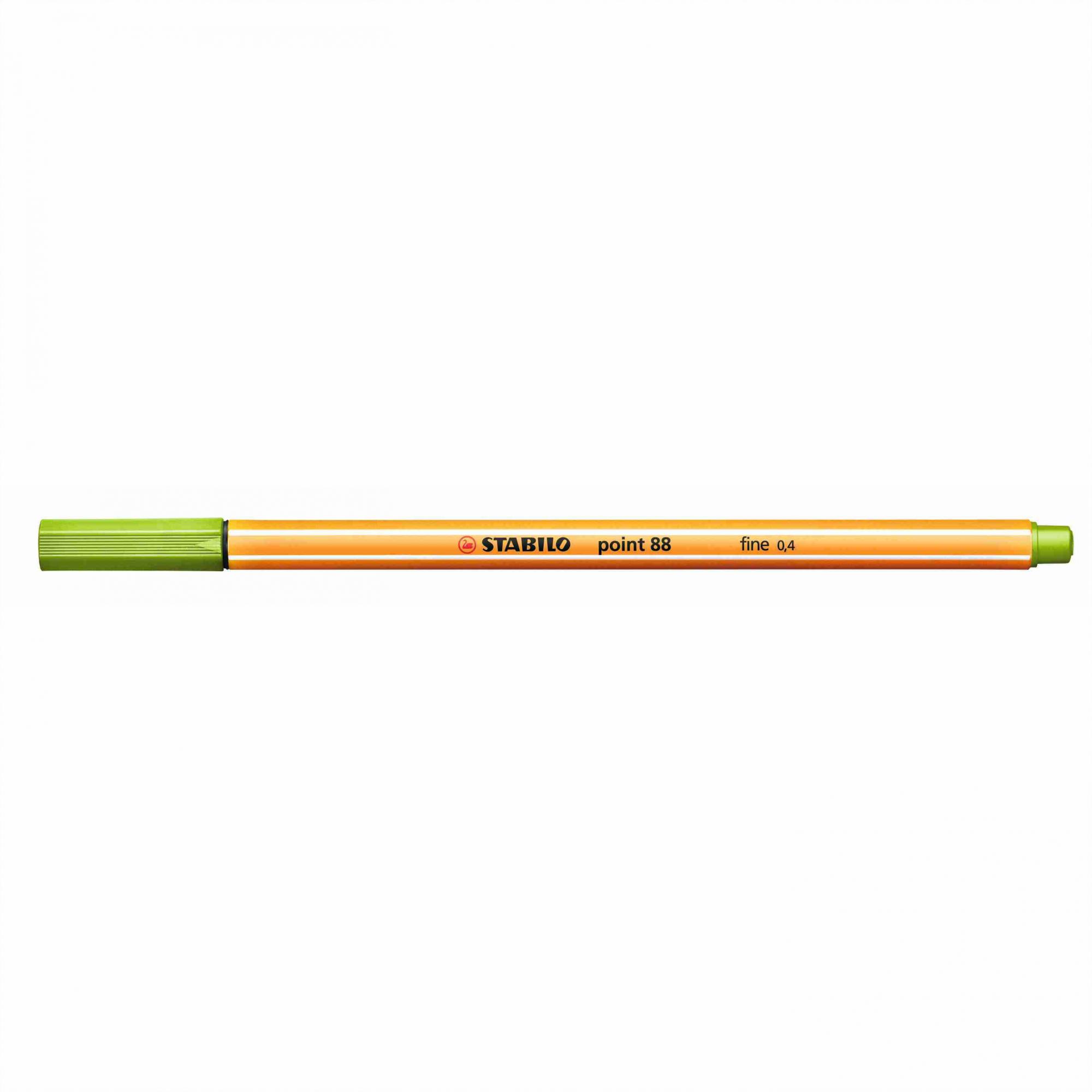 Caneta Hidrográfica 0.4 verde maça POINT 88 Stabilo