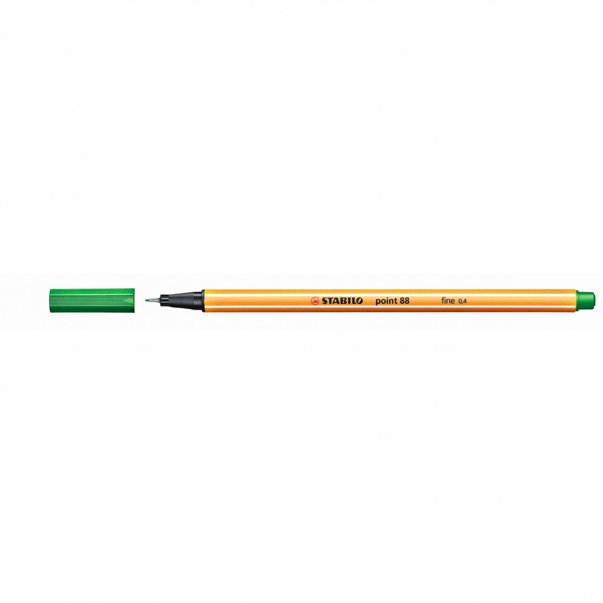 Caneta Hidrográfica 0.4 verde oliva POINT 88 Stabilo