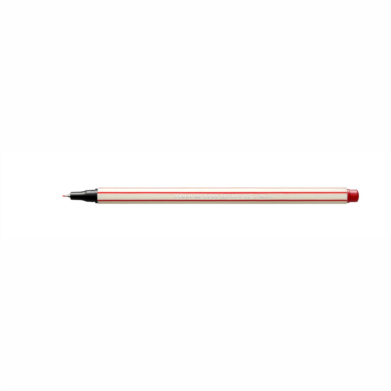 Caneta Hidrográfica 0.4 vermelho MICROLINE Compactor