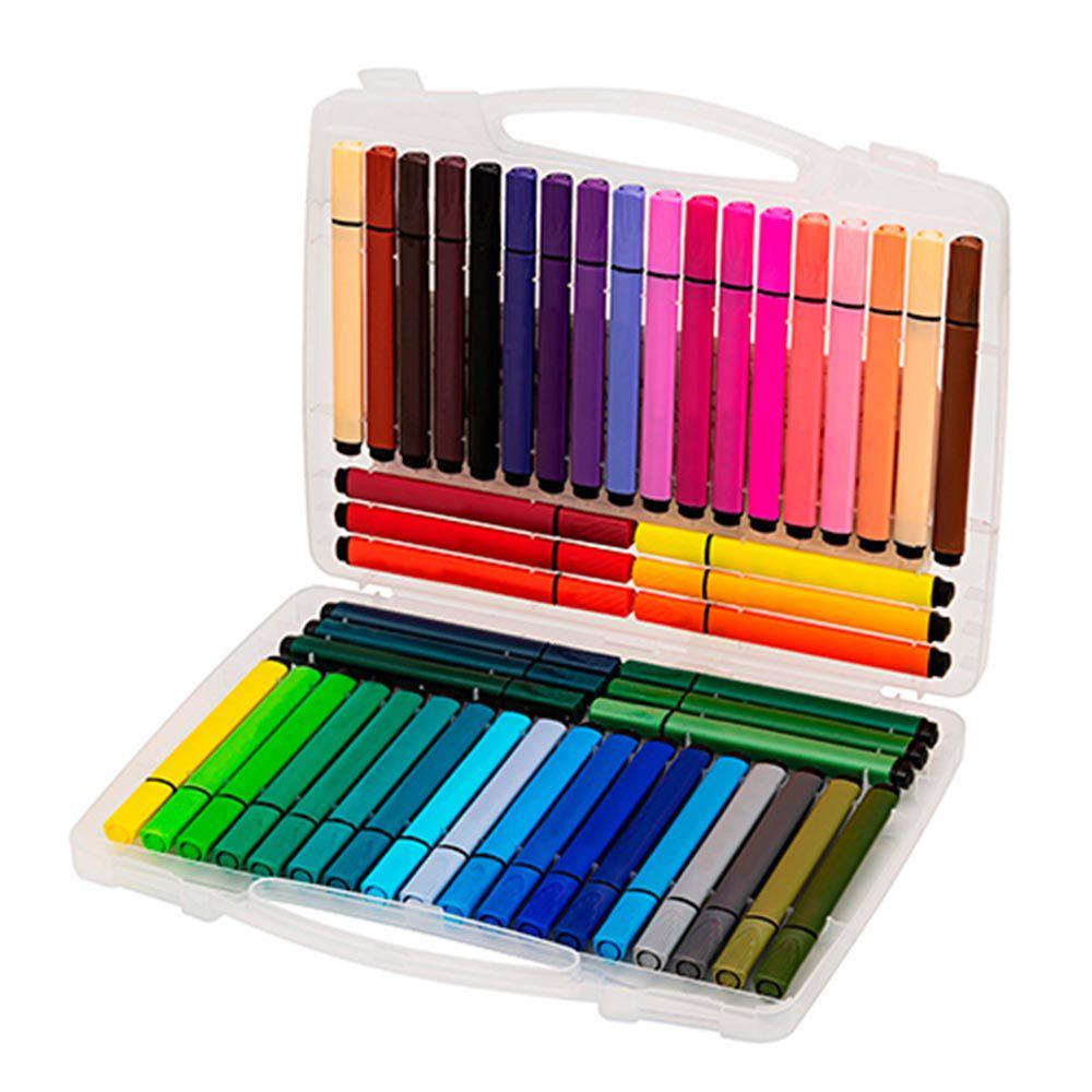 Caneta hidrográfica 48 cores Hidrocor Molin