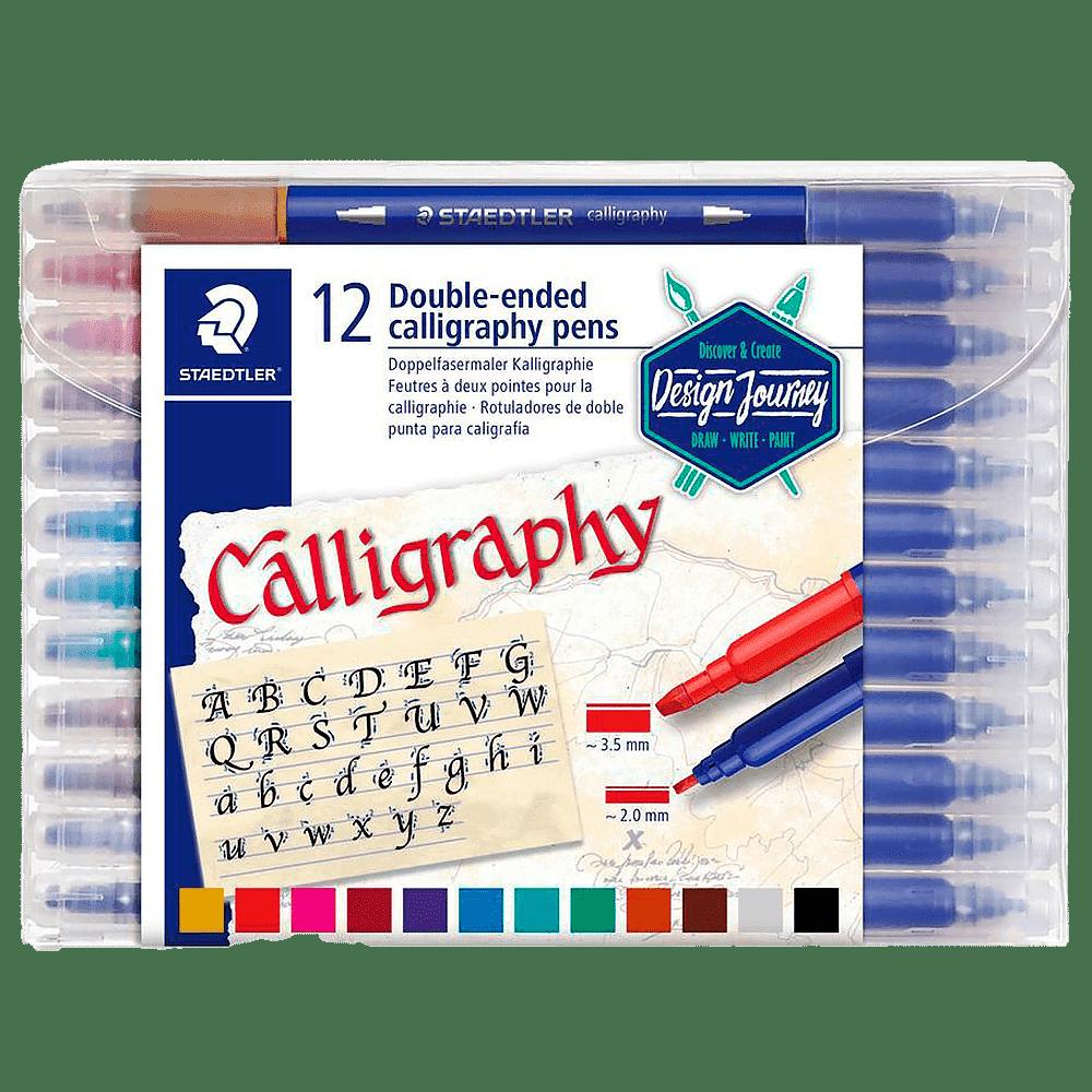 Caneta Hidrográfica caligráfia 12 cores Staedtler