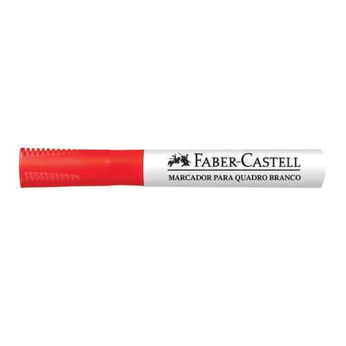 Caneta quadro branco recarregável vermelho Faber-Castell