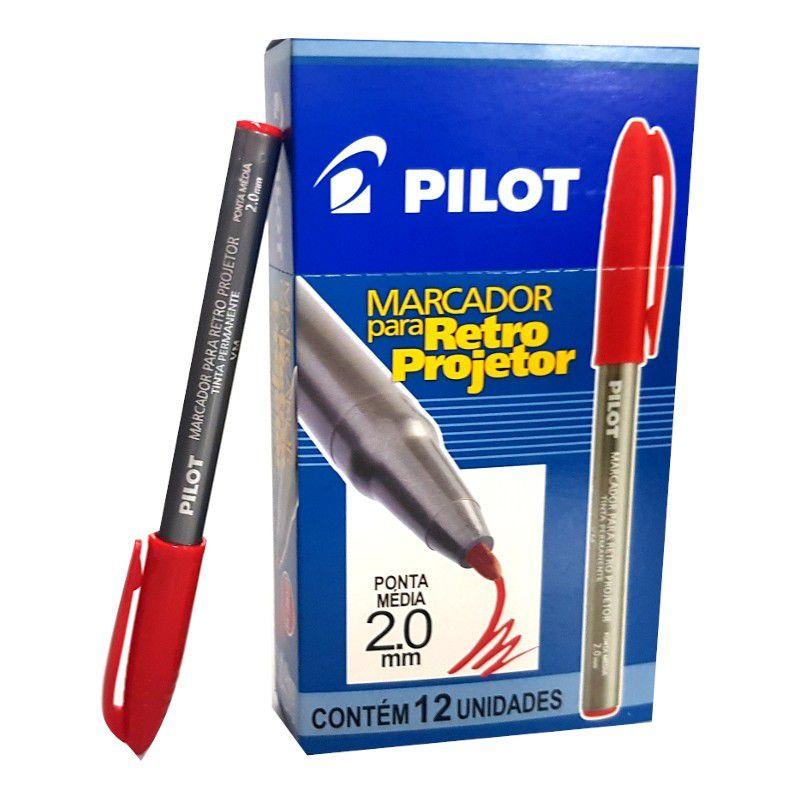 Caneta retroprojetor 2.0 vermelho 12 un Pilot