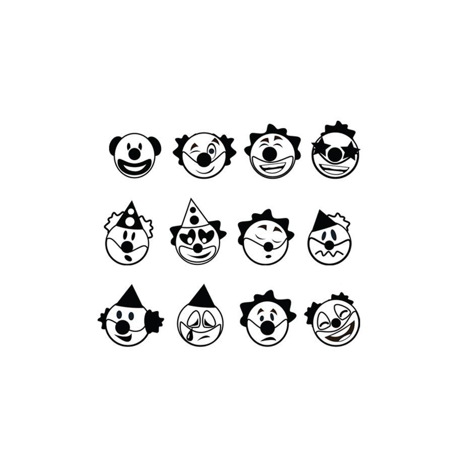 Carimbos palhacinhos 24 un CIS