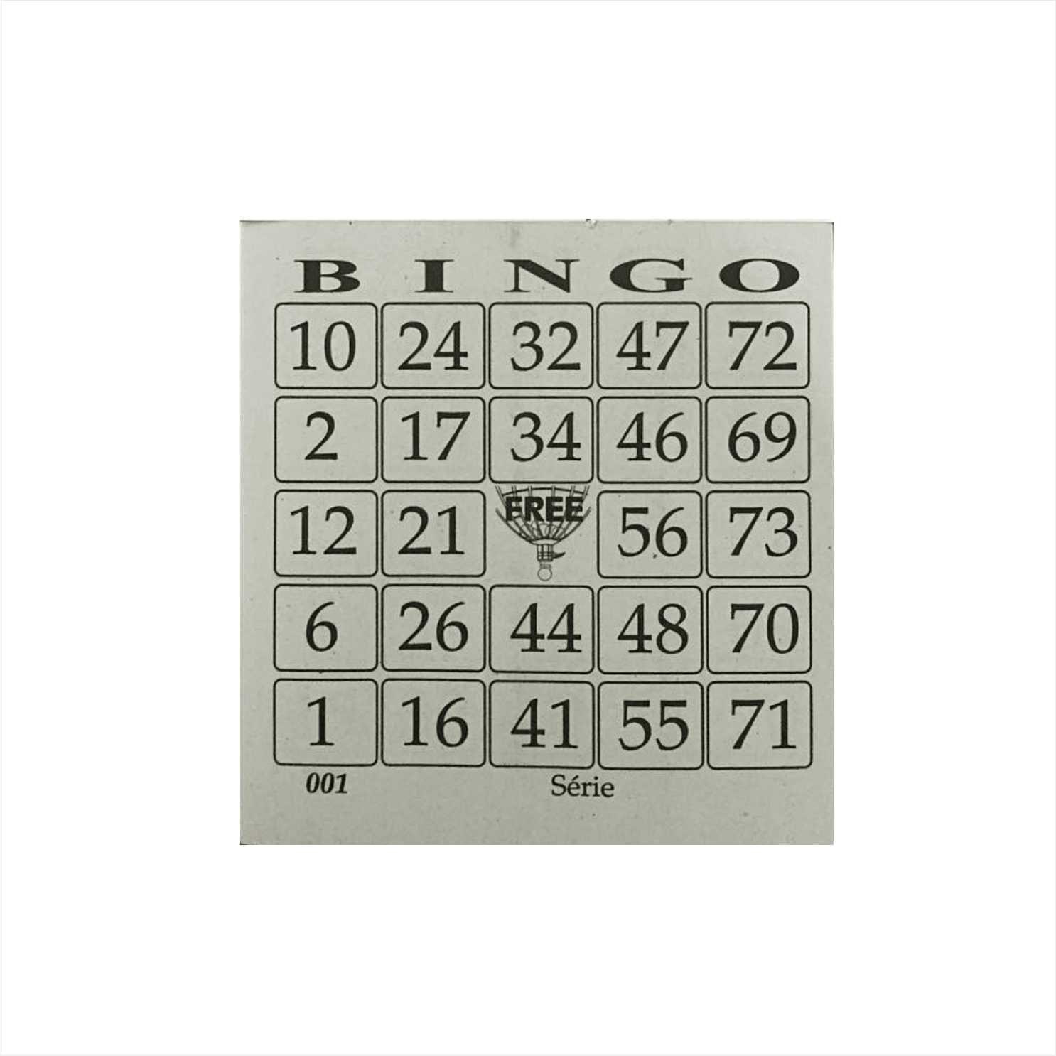 Cartela de bingo 100 folhas jornal 15 un Guerra