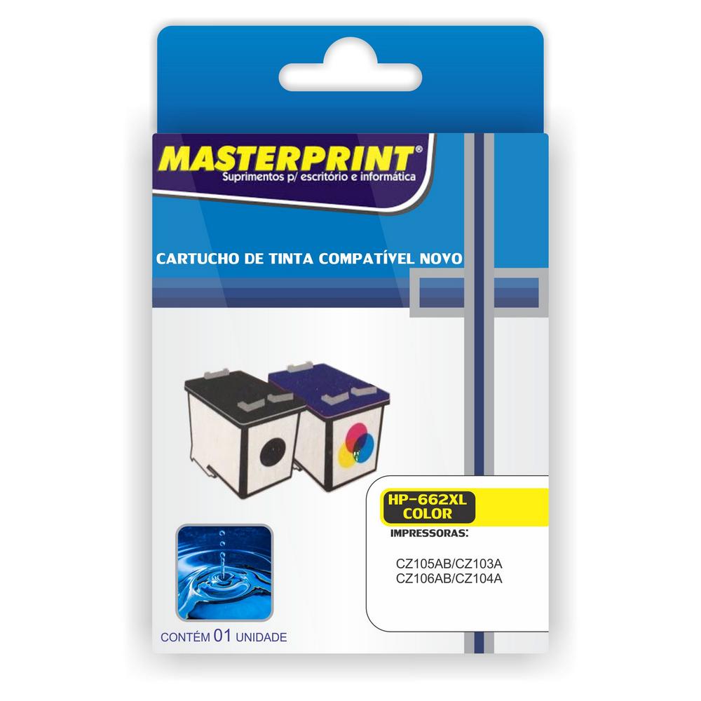 Cartucho 662xl Colorido 11ml Masterprint