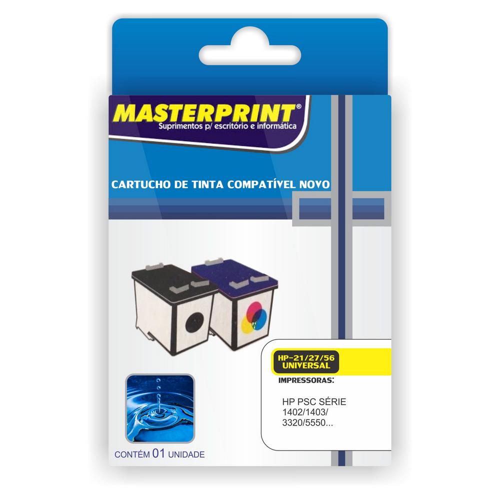Cartucho 21/27/56 Preto 19ml Masterprint
