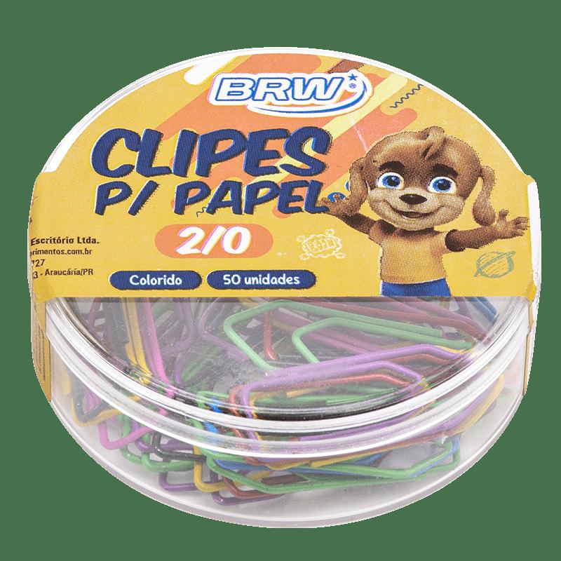Clips 2/0 colorido 50 un Brw