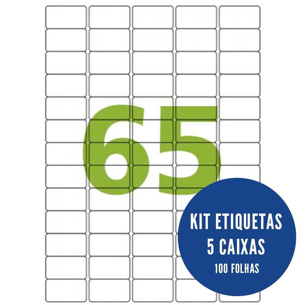 Etiqueta Nº65 5 caixas 100 folhas Colacril