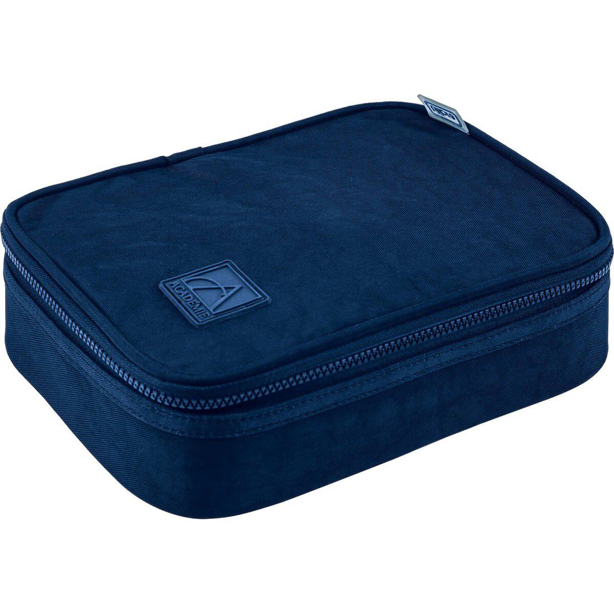 Estojo escolar box azul  ACADÉMIE Tilibra