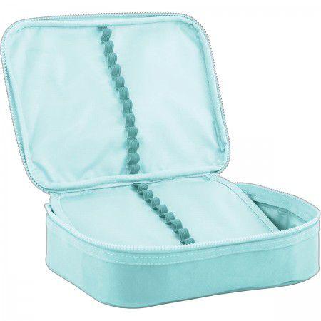 Estojo escolar box azul claro ACADÉMIE Tilibra