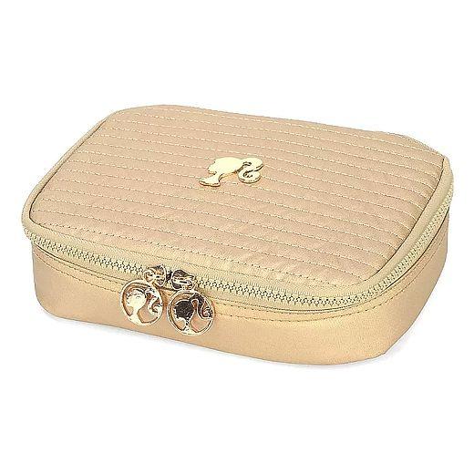 Estojo escolar box ouro barbie Luxcel