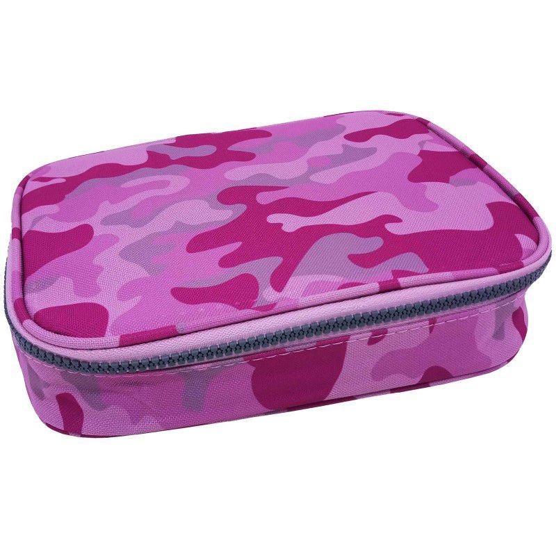 Estojo escolar box rosa camuflado Daterra