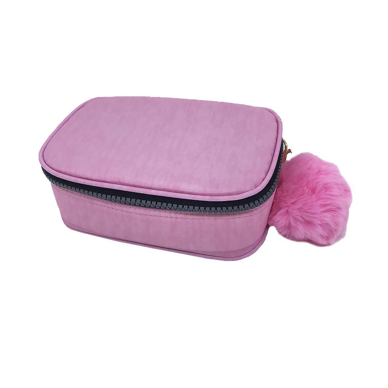Estojo escolar box rosa claro Fizz