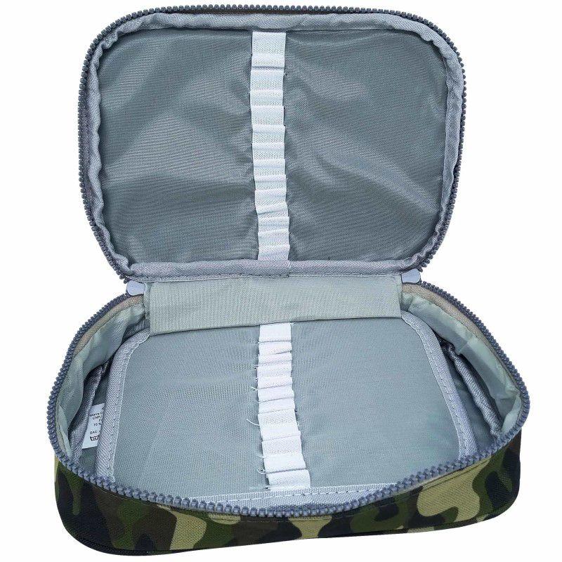 Estojo escolar box verde camuflado Daterra