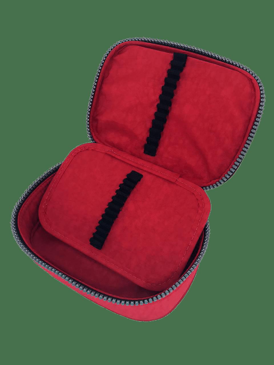 Estojo escolar box vermelho Fizz