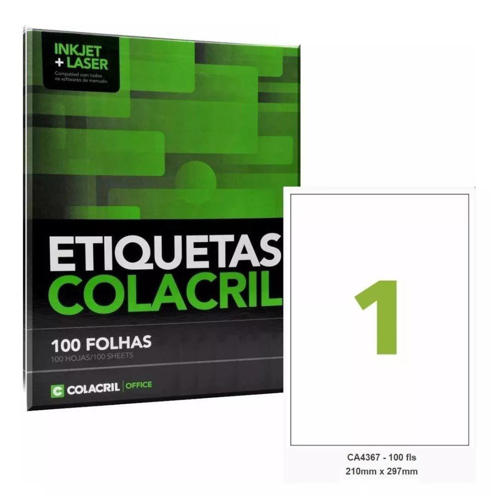 Etiqueta Nº1 100 folhas Colacril