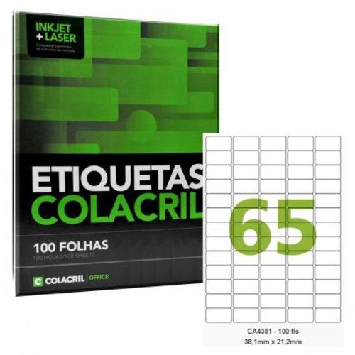 Etiqueta Nº65 100 folhas Colacril