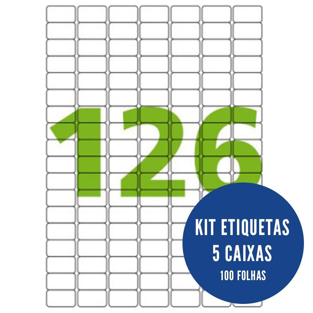 Etiqueta Nº126 5 caixas 100 folhas Colacril