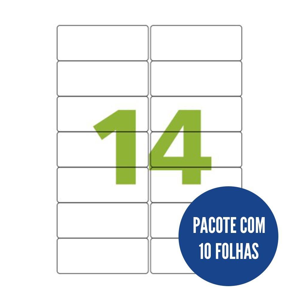 Etiqueta Nº14 10 folhas Colacril